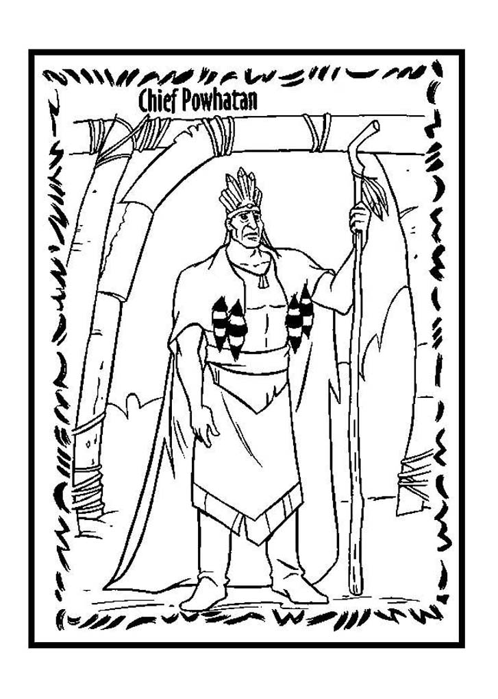 Pocahontas coloring page to download for free