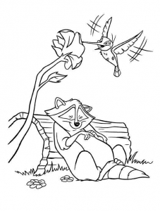 Coloring page pocahontas to print for free
