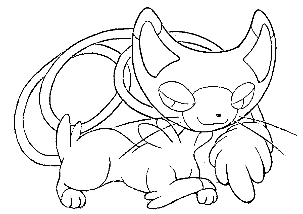 Free Pokemon coloring page to print and color