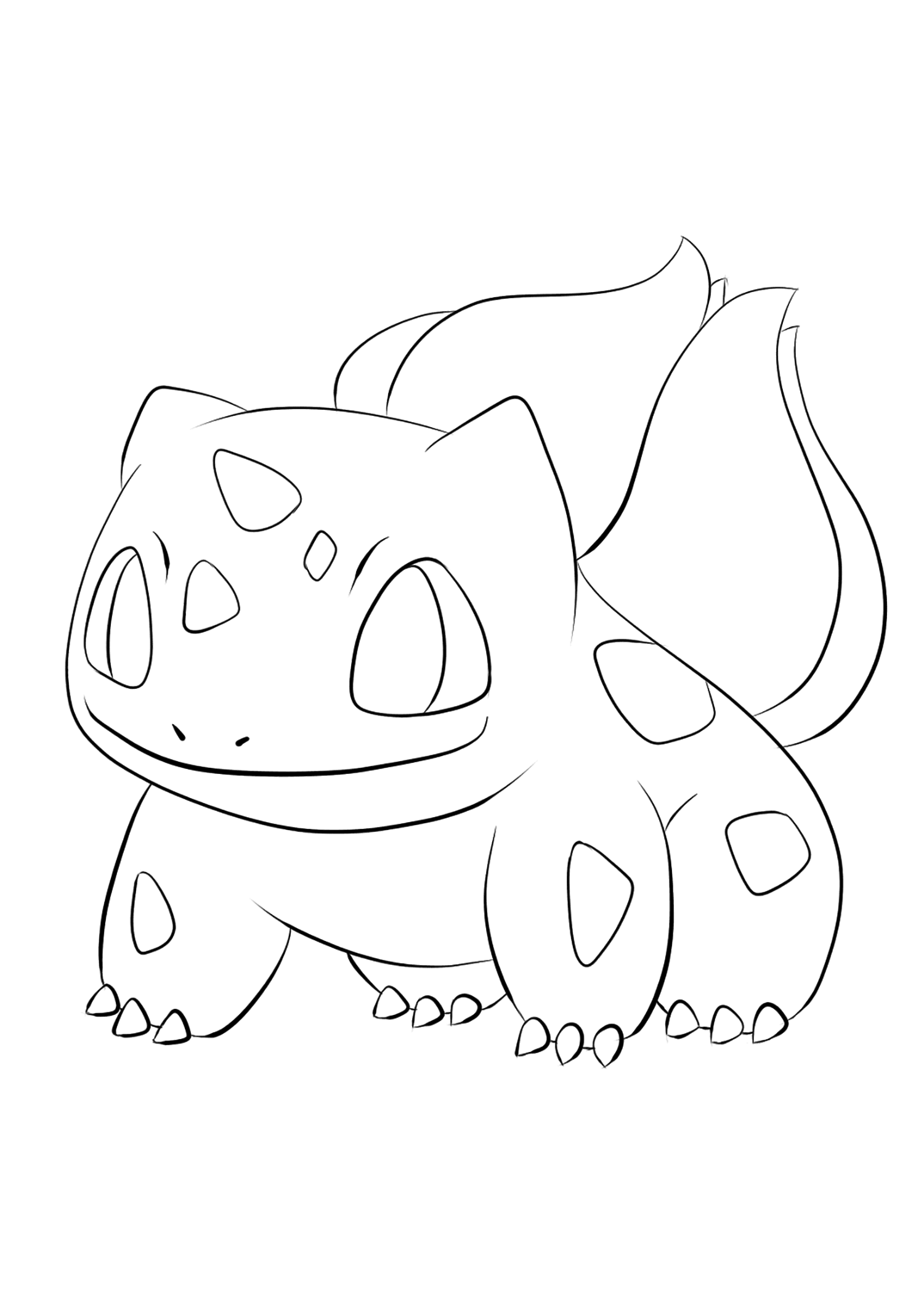 Bulbasaur No 01 Pokemon Generation I All Pokemon Coloring Pages Kids Coloring Pages