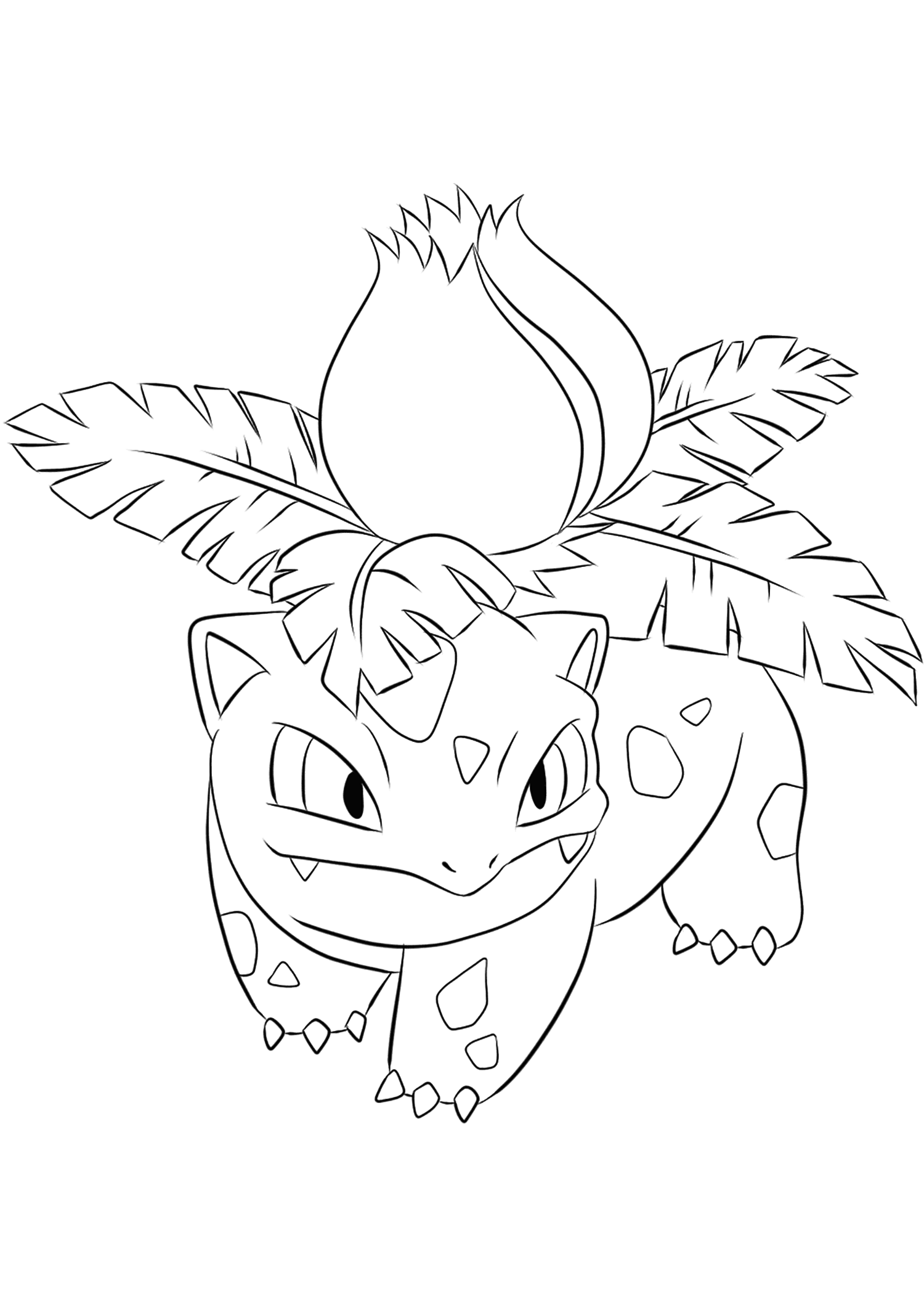 Ivysaur (No.02)Ivysaur Coloring page, Generation I Pokemon of type Grass and PoisonOriginal image credit: Pokemon linearts by Lilly Gerbil'font-size:smaller;color:gray'>Permission: All rights reserved © Pokemon company and Ken Sugimori.