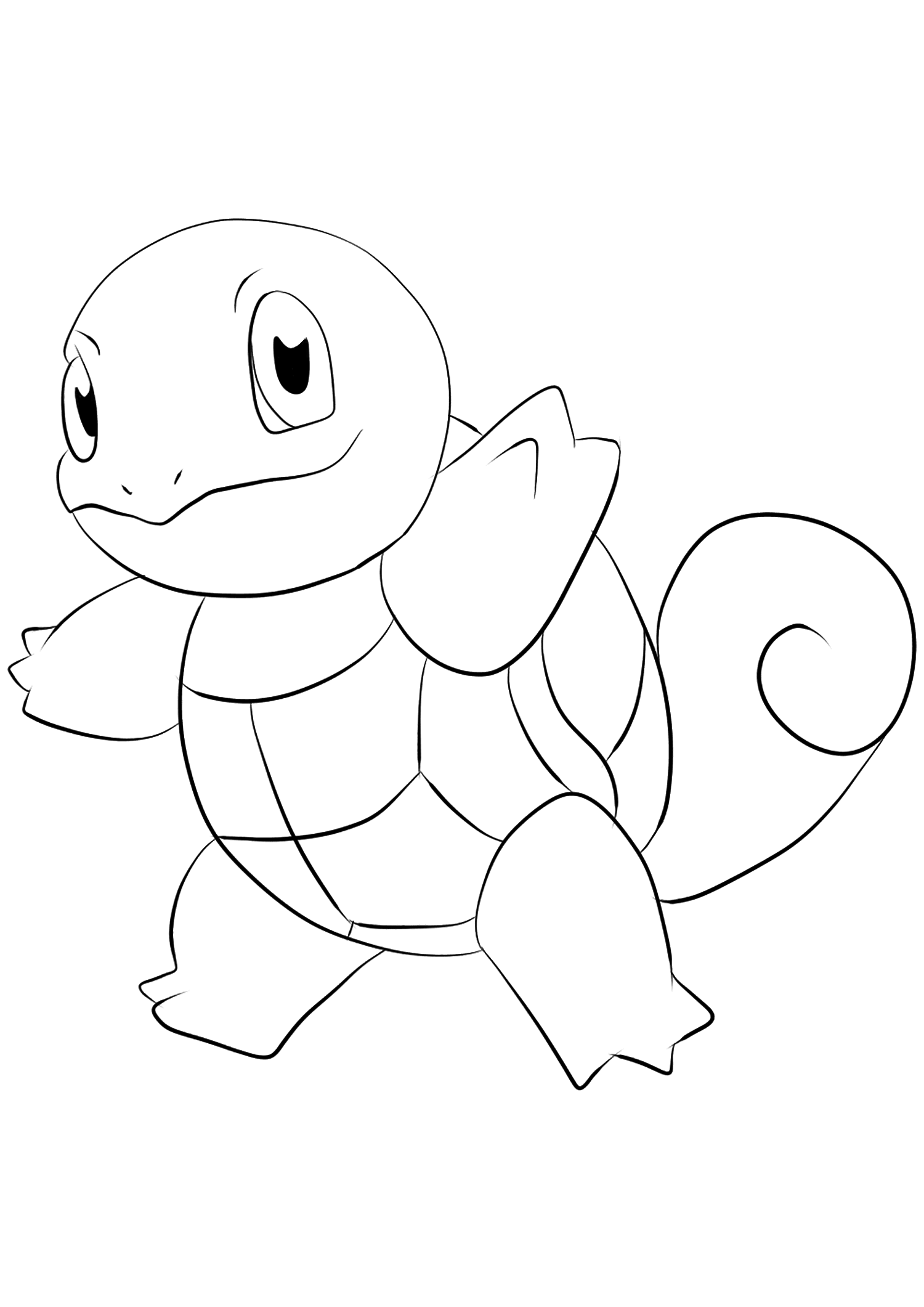 Squirtle (No.07)Squirtle Coloring page, Generation I Pokemon of type WaterOriginal image credit: Pokemon linearts by Lilly Gerbil'font-size:smaller;color:gray'>Permission: All rights reserved © Pokemon company and Ken Sugimori.