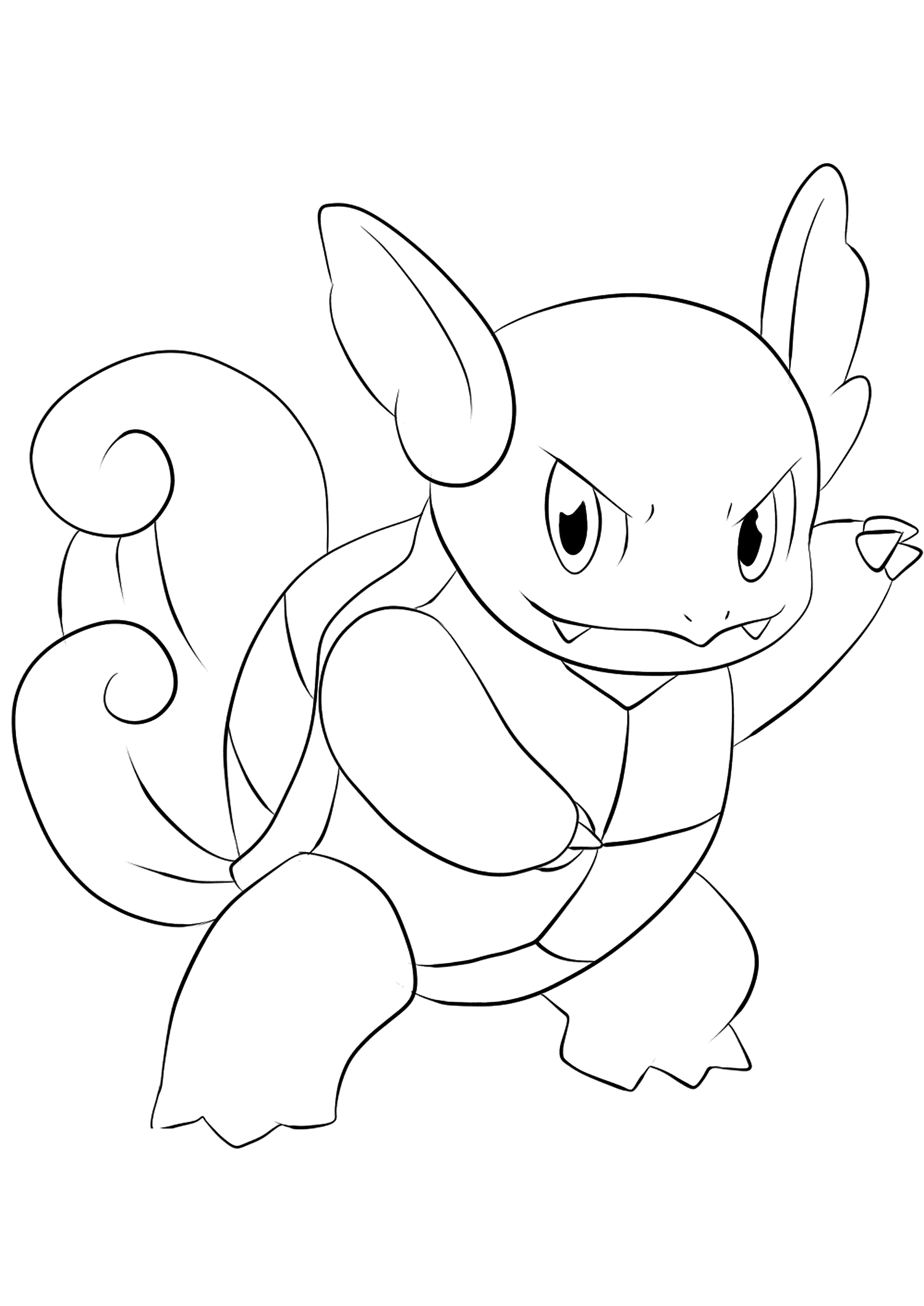 Wartortle (No.08)Wartortle Coloring page, Generation I Pokemon of type WaterOriginal image credit: Pokemon linearts by Lilly Gerbil'font-size:smaller;color:gray'>Permission: All rights reserved © Pokemon company and Ken Sugimori.