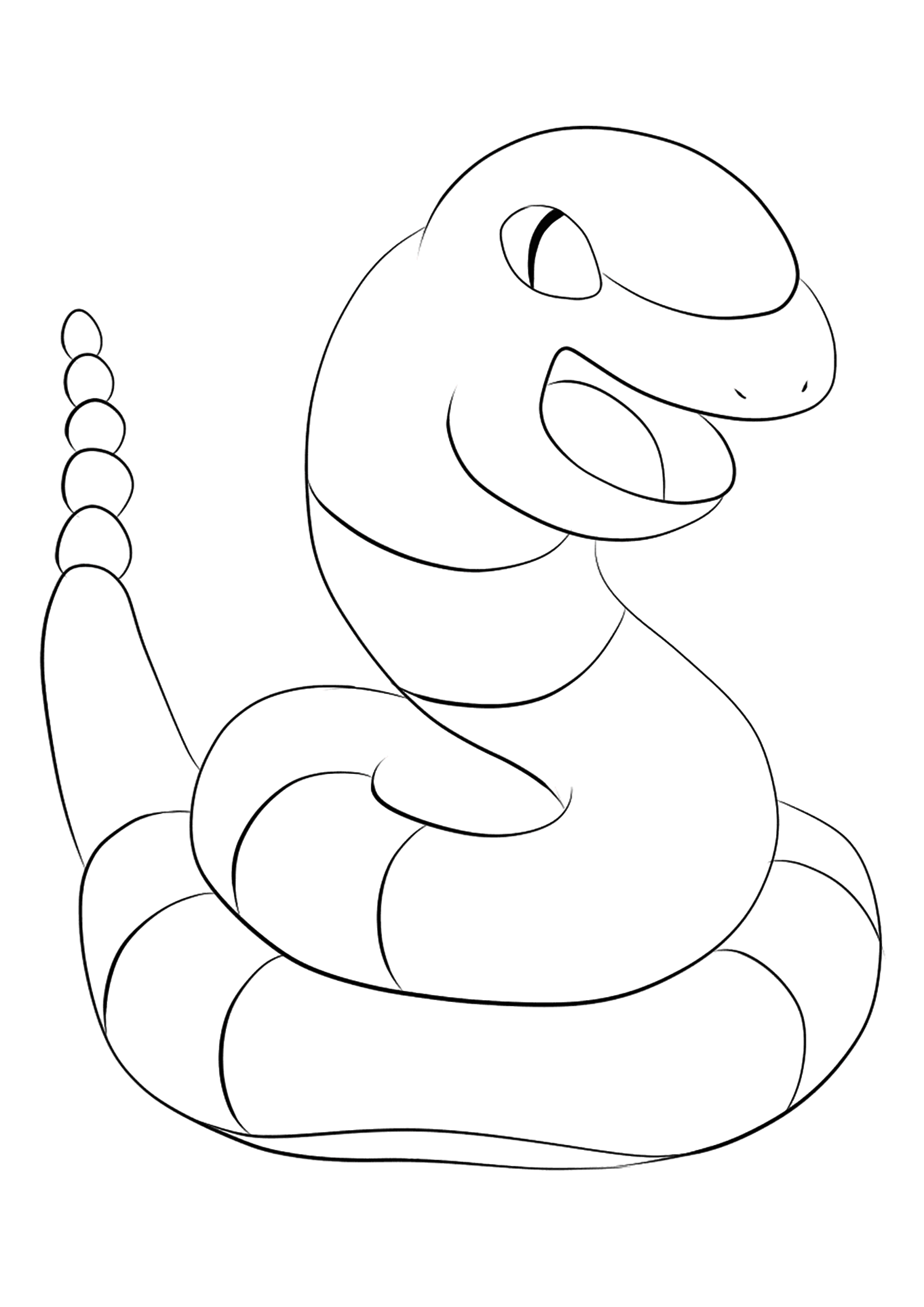 Ekans (No.23)Ekans Coloring page, Generation I Pokemon of type PoisonOriginal image credit: Pokemon linearts by Lilly Gerbil'font-size:smaller;color:gray'>Permission: All rights reserved © Pokemon company and Ken Sugimori.