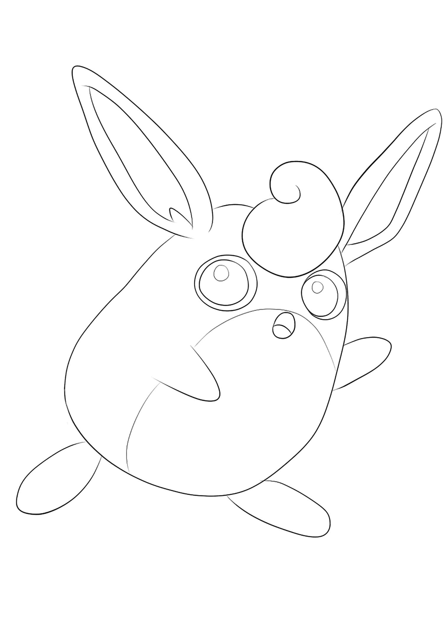 Wigglytuff (No.40)Wigglytuff Coloring page, Generation I Pokemon of type Normal and FairyOriginal image credit: Pokemon linearts by Lilly Gerbil'font-size:smaller;color:gray'>Permission: All rights reserved © Pokemon company and Ken Sugimori.