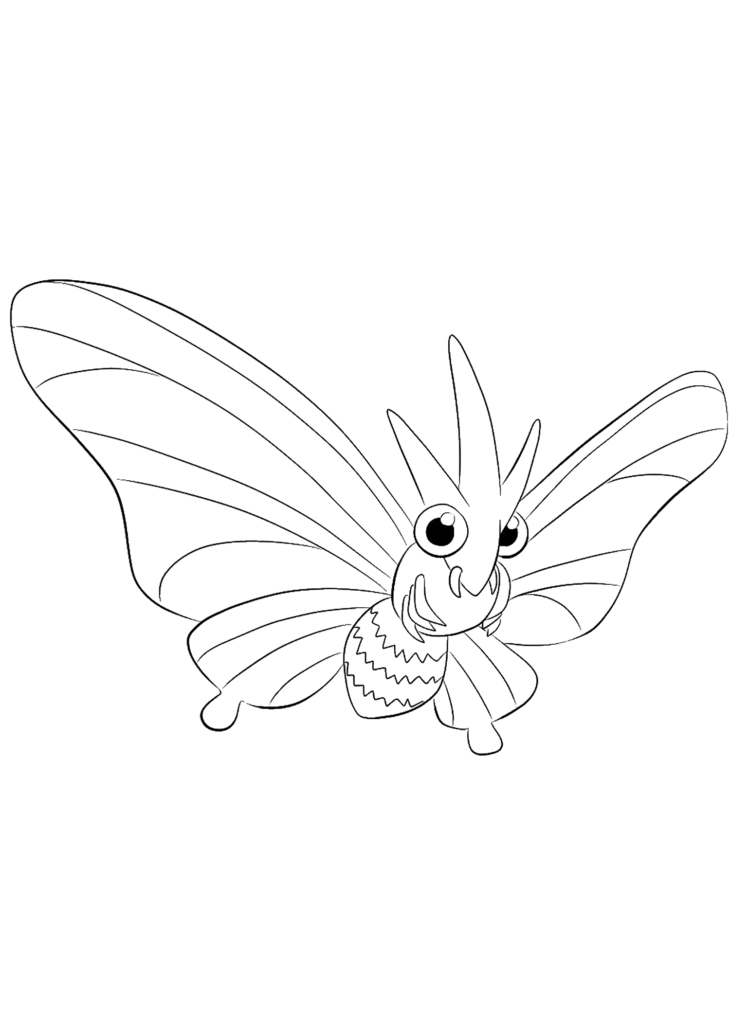 Venomoth (No.49)Venomoth Coloring page, Generation I Pokemon of type Bug and PoisonOriginal image credit: Pokemon linearts by Lilly Gerbil'font-size:smaller;color:gray'>Permission: All rights reserved © Pokemon company and Ken Sugimori.