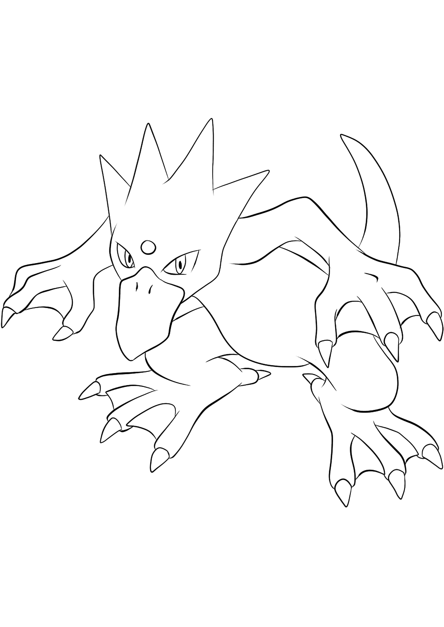 Golduck (No.55)Golduck Coloring page, Generation I Pokemon of type WaterOriginal image credit: Pokemon linearts by Lilly Gerbil on Deviantart.Permission:  All rights reserved © Pokemon company and Ken Sugimori.