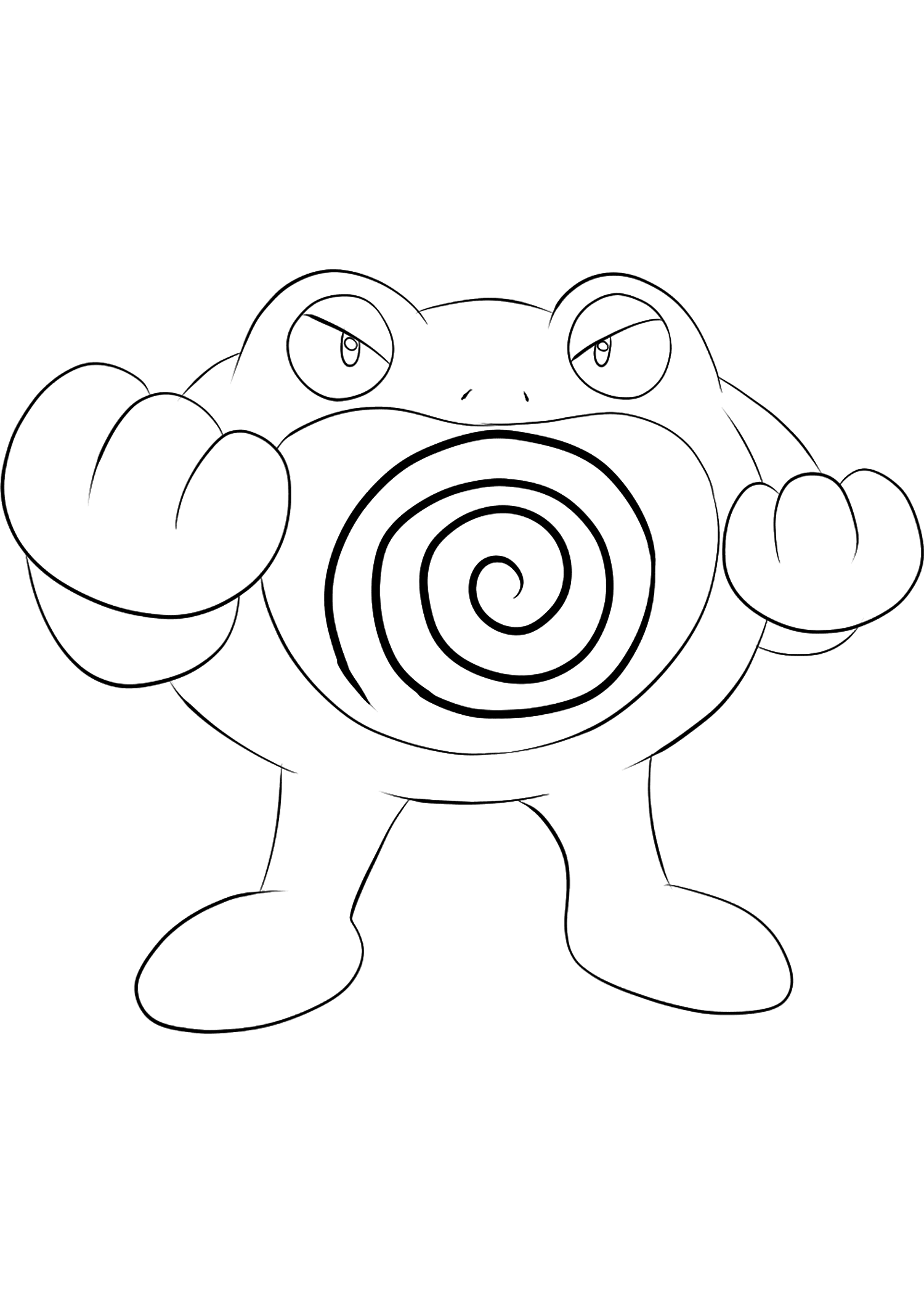Poliwrath (No.62)Poliwrath Coloring page, Generation I Pokemon of type Water and FightingOriginal image credit: Pokemon linearts by Lilly Gerbil on Deviantart.Permission:  All rights reserved © Pokemon company and Ken Sugimori.
