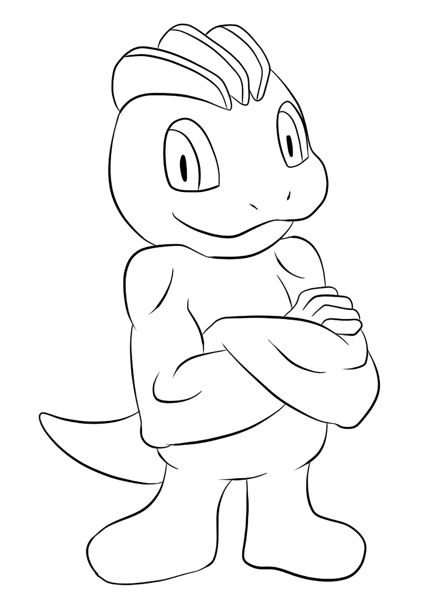 Machop (No.66)Machop Coloring page, Generation I Pokemon of type FightingOriginal image credit: Pokemon linearts by Lilly Gerbil on Deviantart.Permission:  All rights reserved © Pokemon company and Ken Sugimori.
