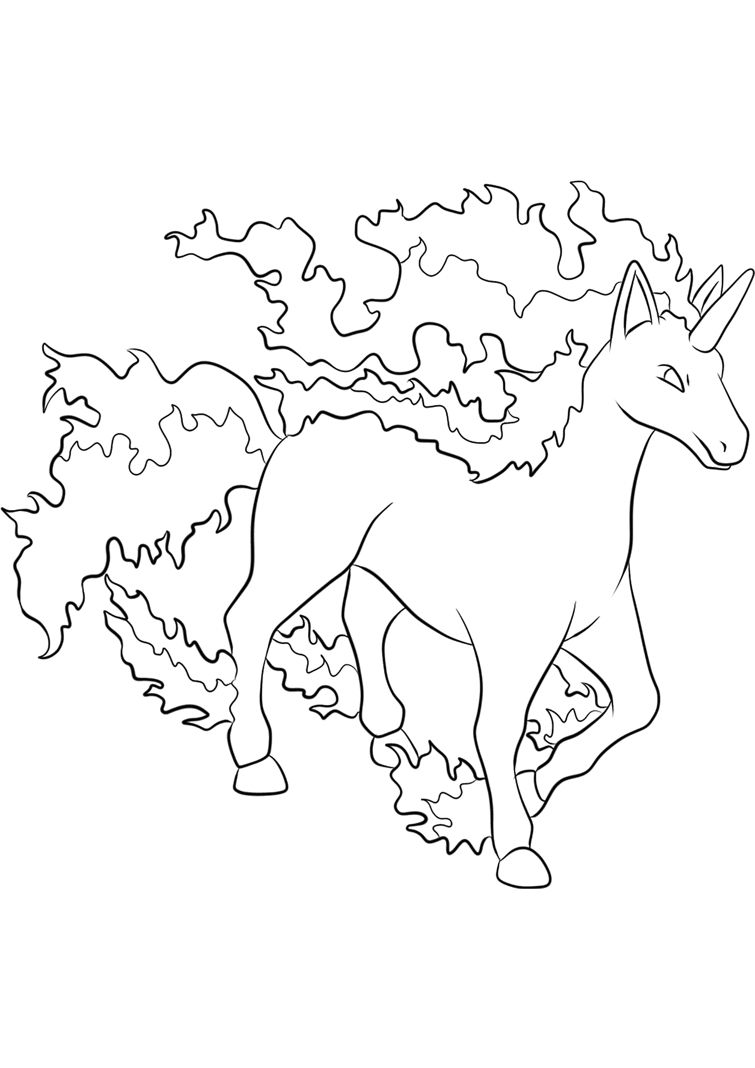 <b>Rapidash</b> (No.78) : Pokemon (Generation I)
