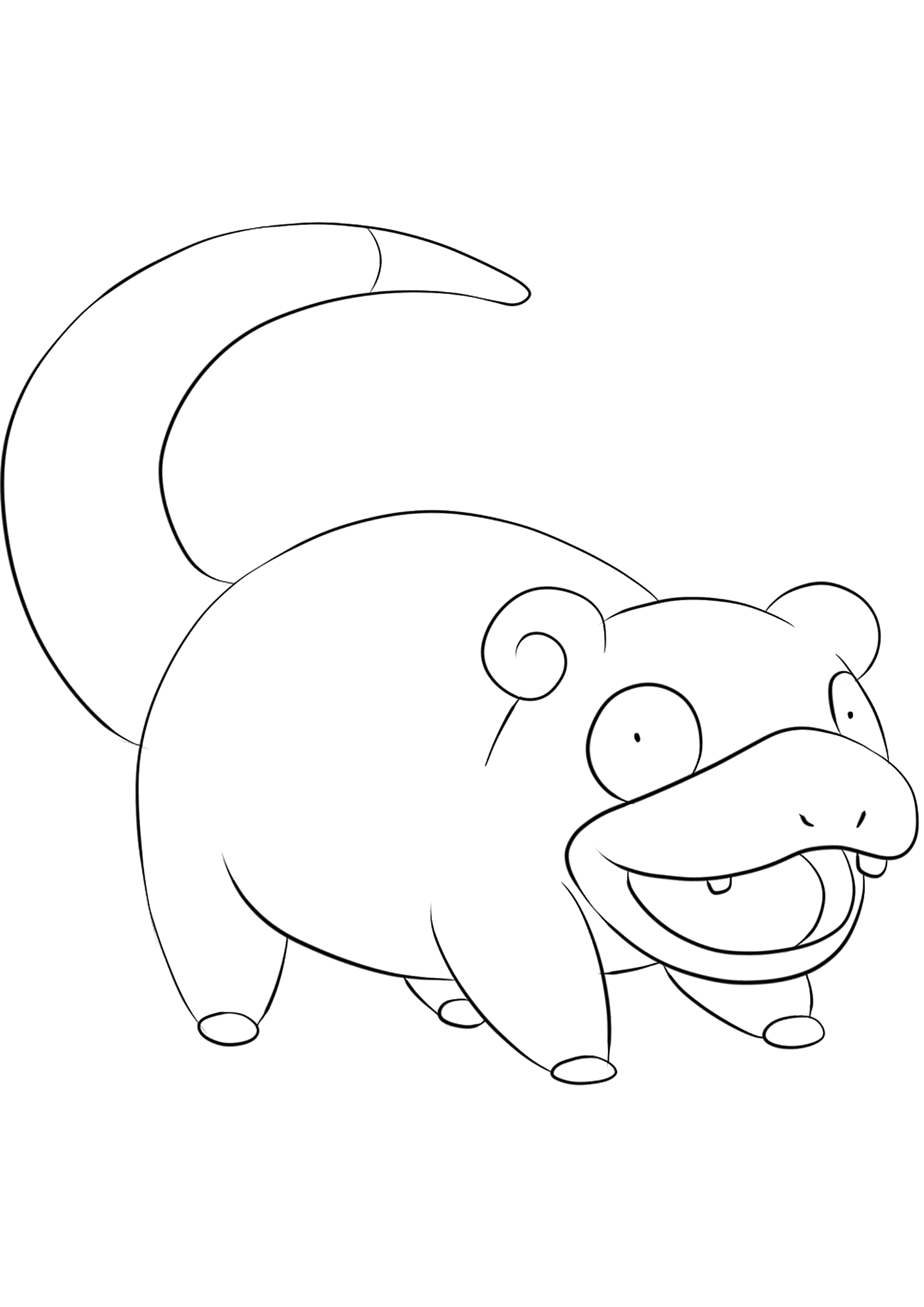 Slowpoke (No.79)Slowpoke Coloring page, Generation I Pokemon of type Water and PsychicOriginal image credit: Pokemon linearts by Lilly Gerbil on Deviantart.Permission:  All rights reserved © Pokemon company and Ken Sugimori.