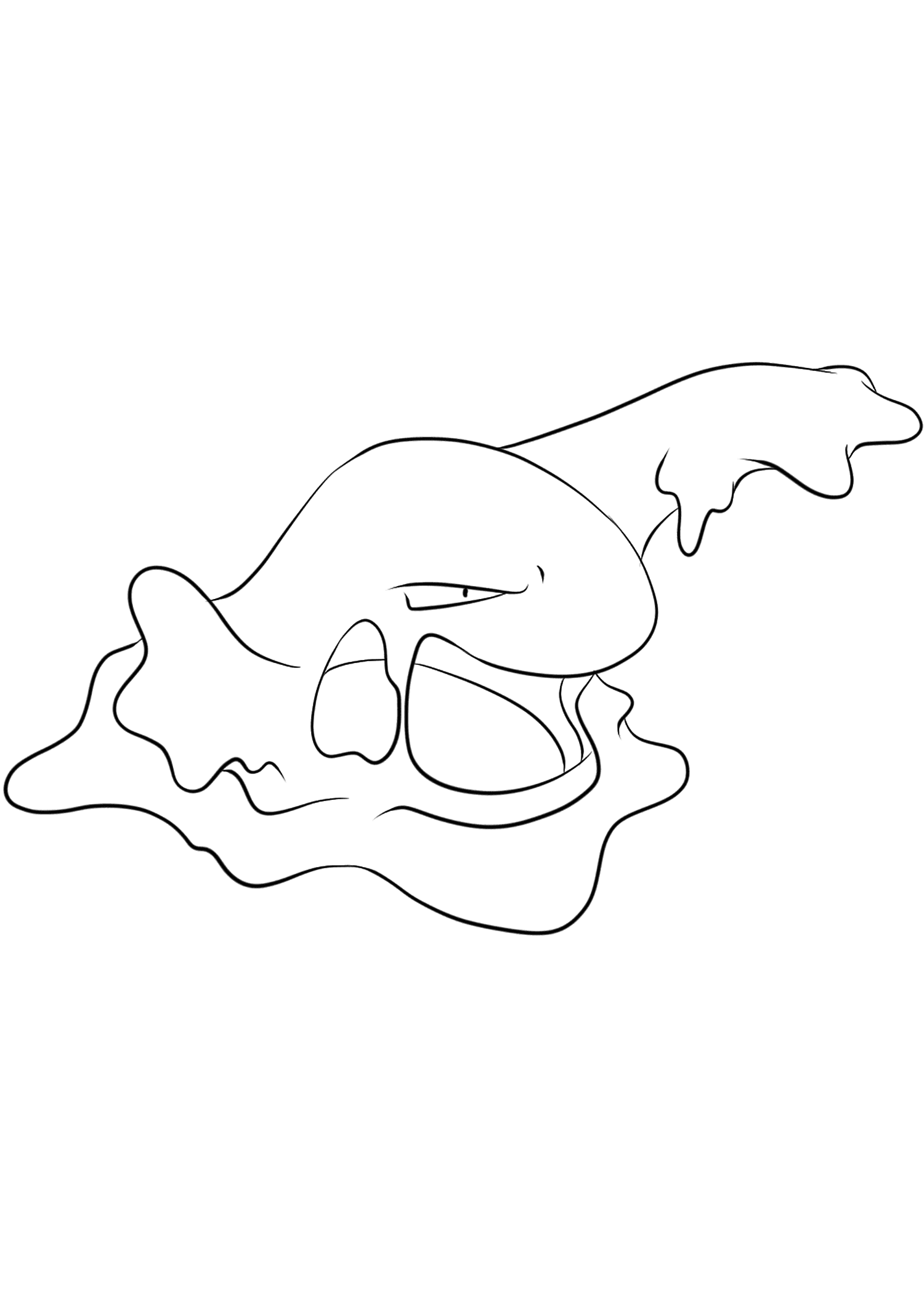 Muk (No.89)Muk Coloring page, Generation I Pokemon of type Poison and DarkOriginal image credit: Pokemon linearts by Lilly Gerbil on Deviantart.Permission:  All rights reserved © Pokemon company and Ken Sugimori.