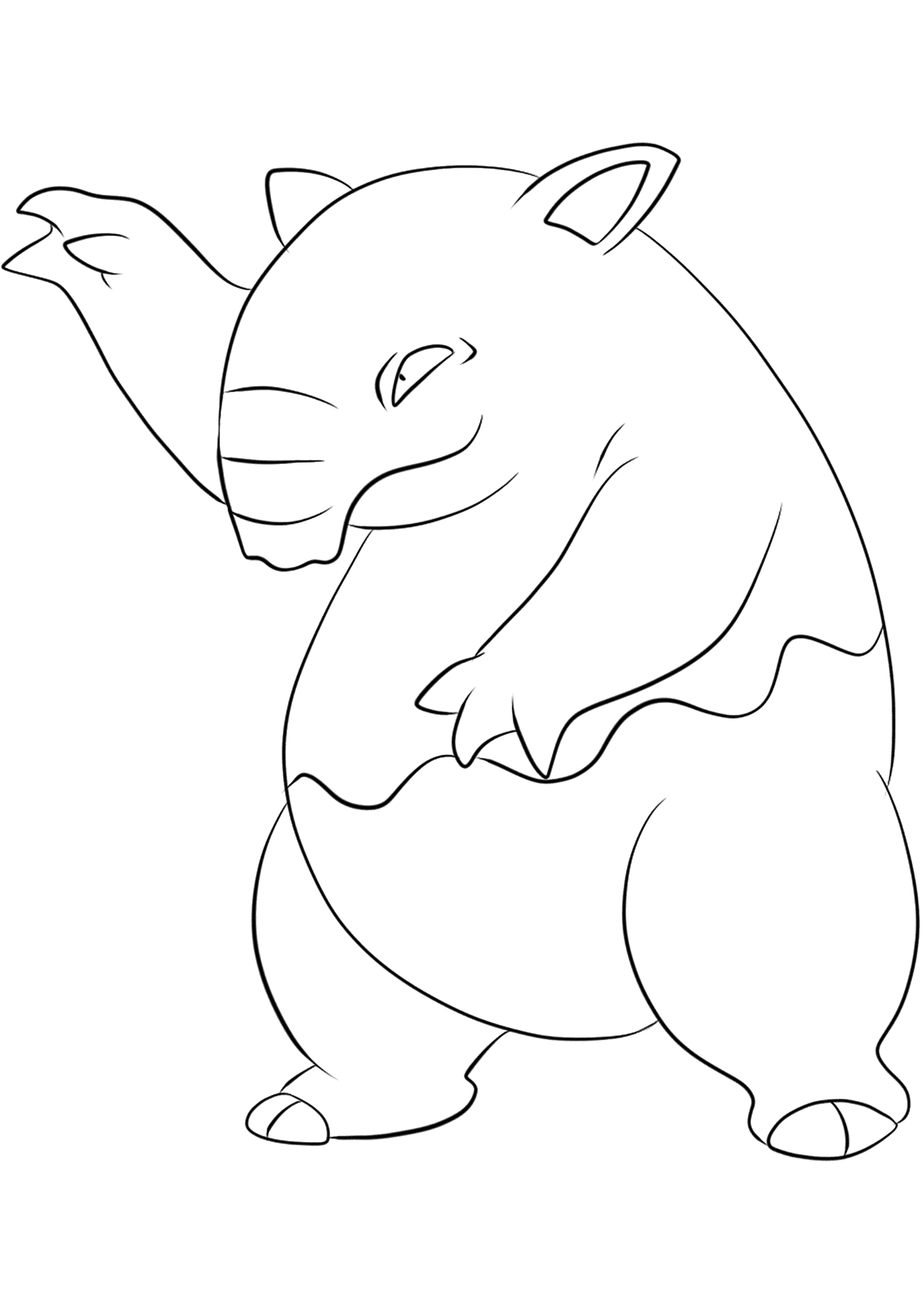 Drowzee (No.96)Drowzee Coloring page, Generation I Pokemon of type PsychicOriginal image credit: Pokemon linearts by Lilly Gerbil on Deviantart.Permission:  All rights reserved © Pokemon company and Ken Sugimori.