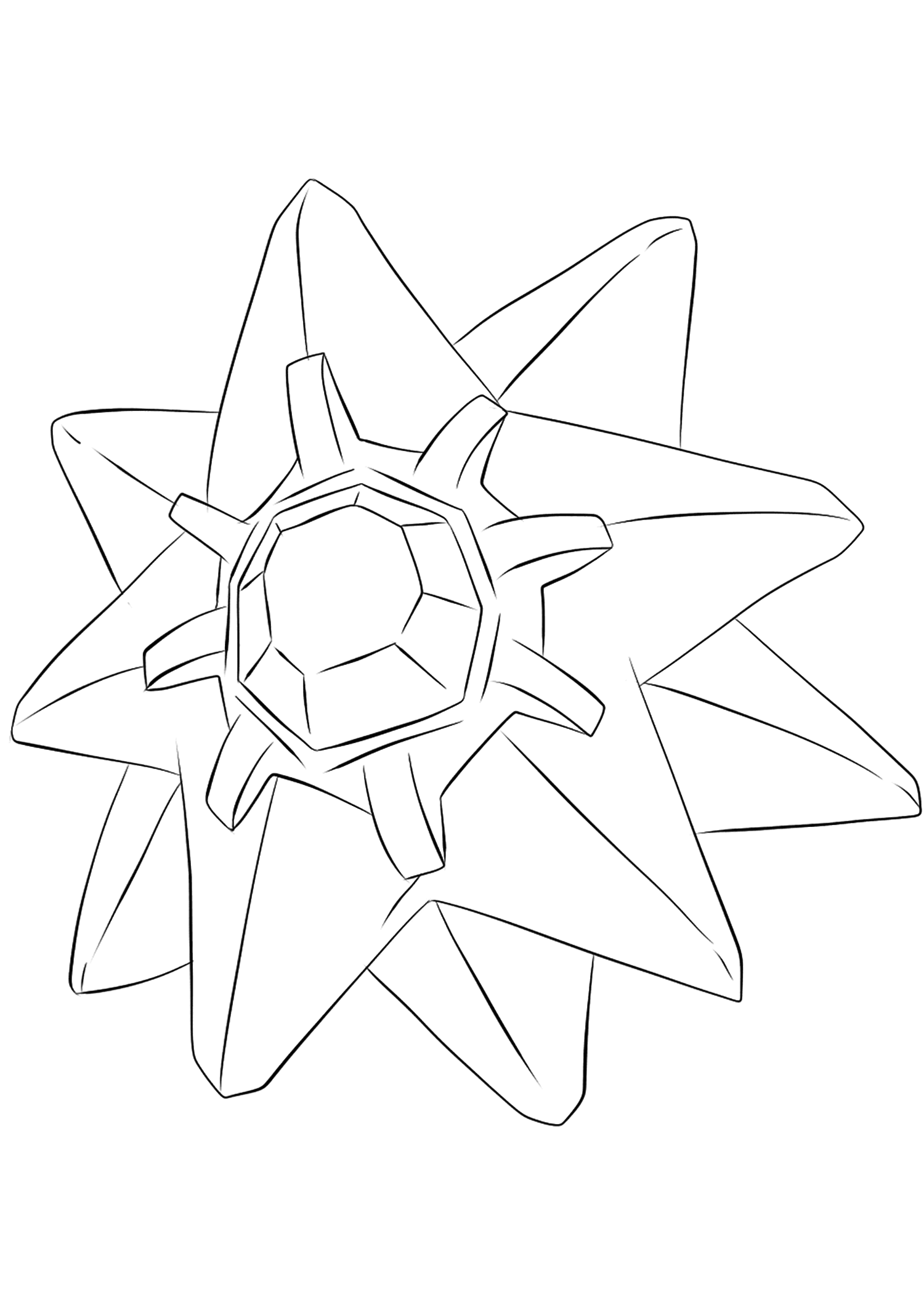 Starmie (No.121)Starmie Coloring page, Generation I Pokemon of type Water and PsychicOriginal image credit: Pokemon linearts by Lilly Gerbil on Deviantart.Permission:  All rights reserved © Pokemon company and Ken Sugimori.