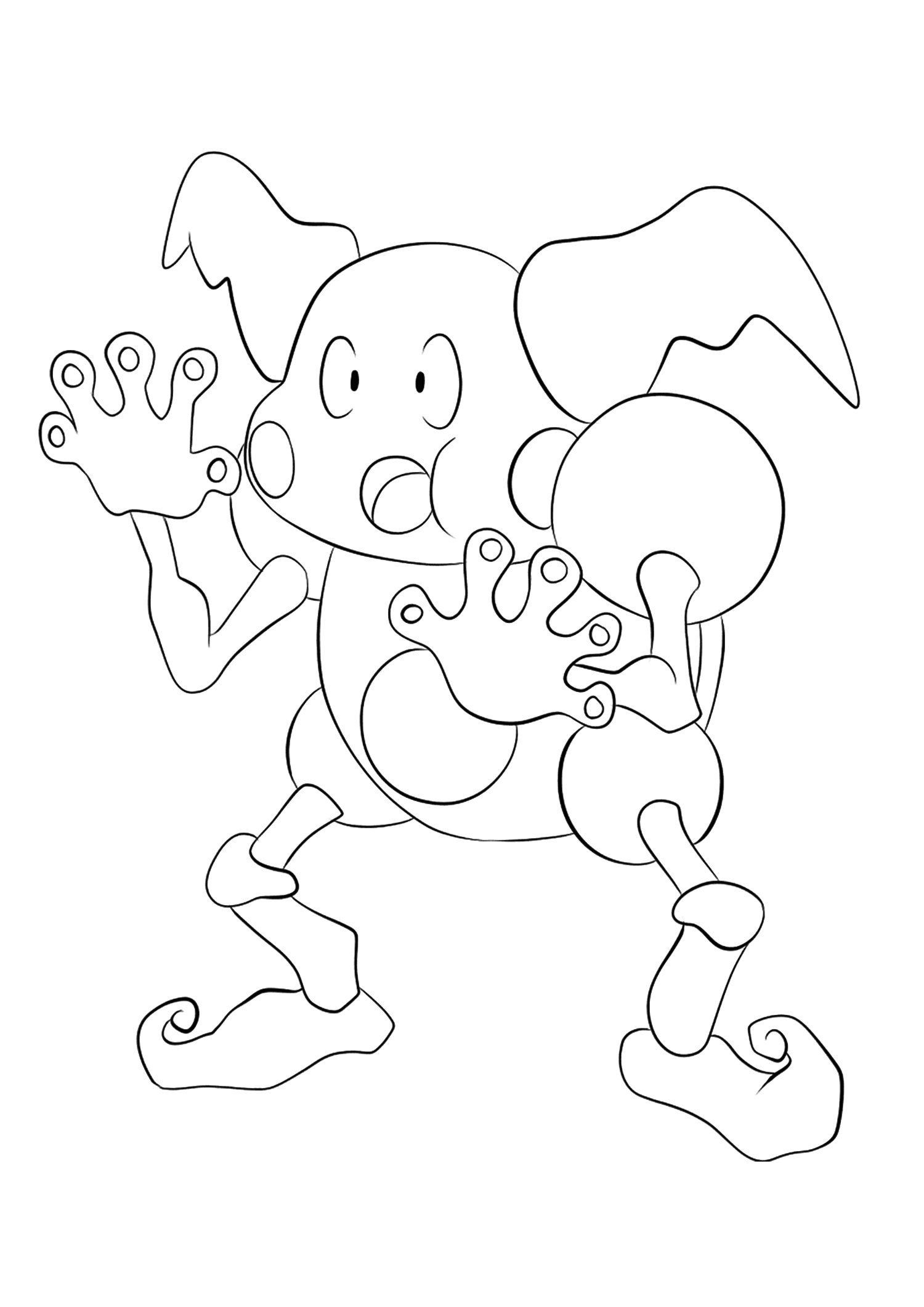 Mr. Mime (No.122)Mr. Mime Coloring page, Generation I Pokemon of type Psychic and FairyOriginal image credit: Pokemon linearts by Lilly Gerbil on Deviantart.Permission:  All rights reserved © Pokemon company and Ken Sugimori.