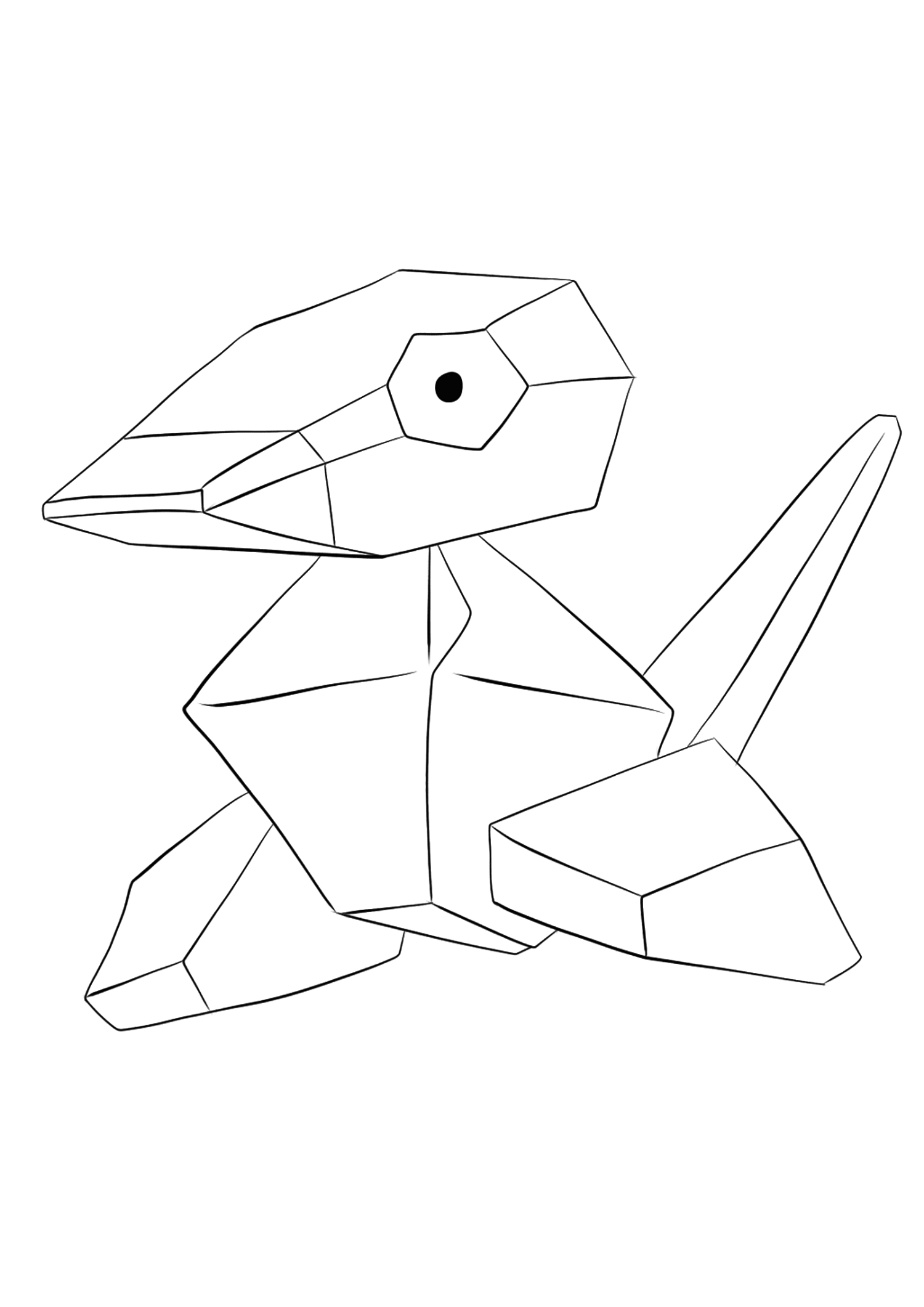 Porygon (No.137)Porygon Coloring page, Generation I Pokemon of type NormalOriginal image credit: Pokemon linearts by Lilly Gerbil on Deviantart.Permission:  All rights reserved © Pokemon company and Ken Sugimori.
