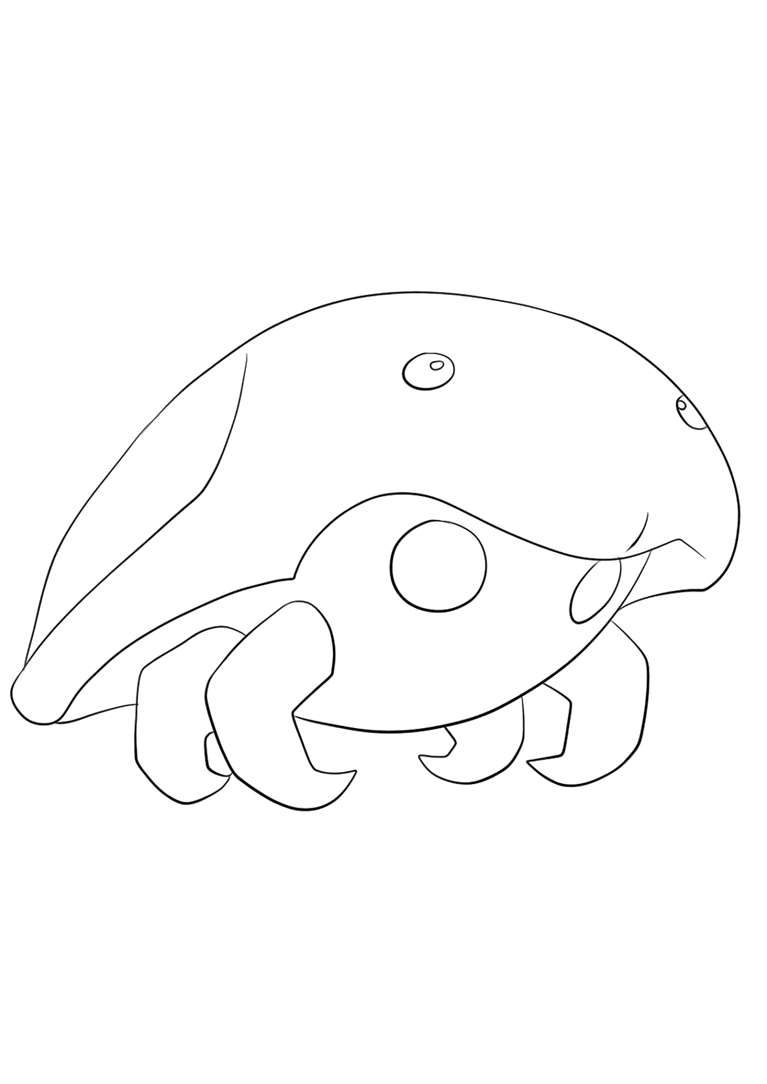 Kabuto (No.140)Kabuto Coloring page, Generation I Pokemon of type Rock and WaterOriginal image credit: Pokemon linearts by Lilly Gerbil on Deviantart.Permission:  All rights reserved © Pokemon company and Ken Sugimori.