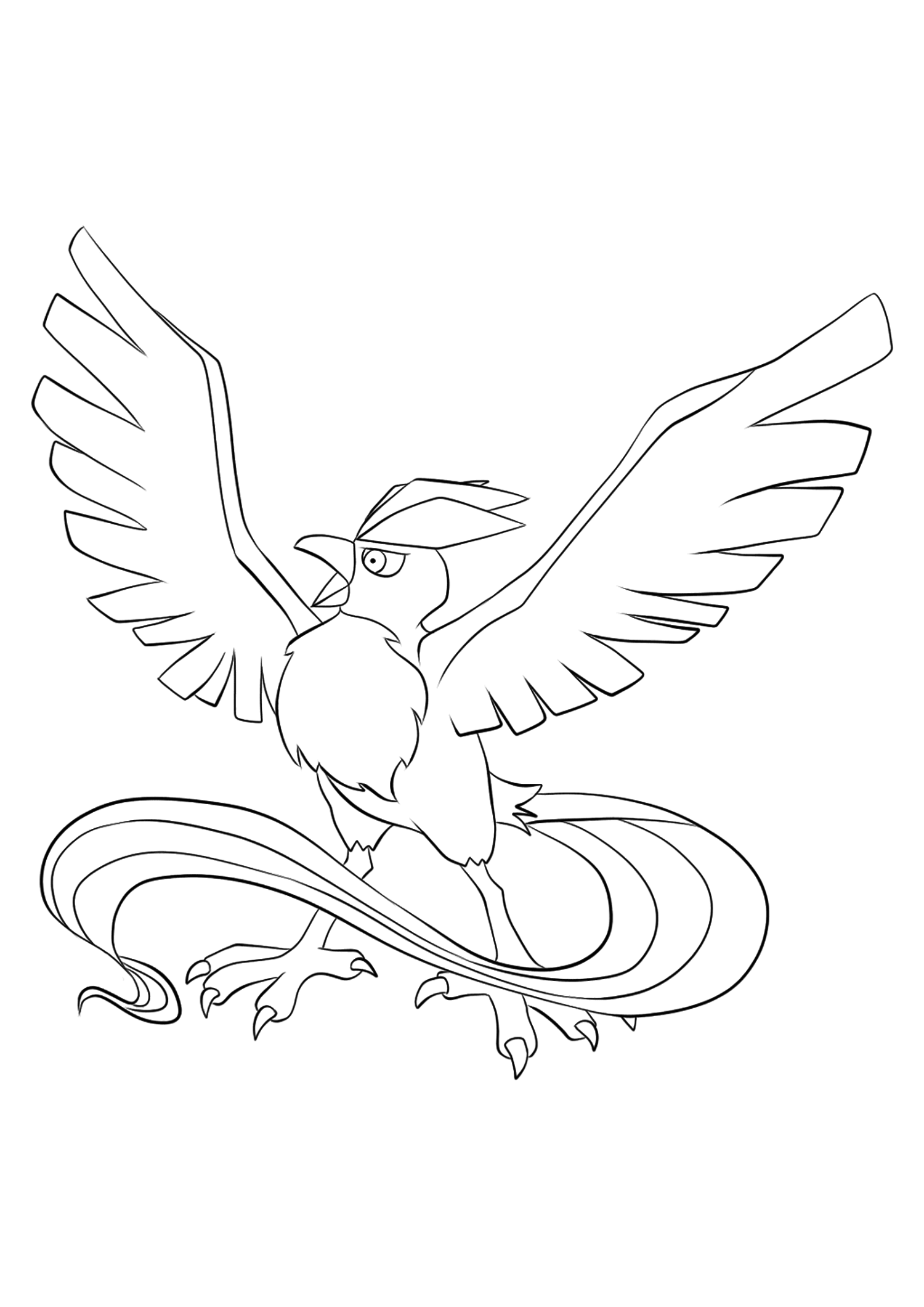 Articuno (No.144)Articuno Coloring page, Generation I Pokemon of type Ice and FlyingOriginal image credit: Pokemon linearts by Lilly Gerbil on Deviantart.Permission:  All rights reserved © Pokemon company and Ken Sugimori.