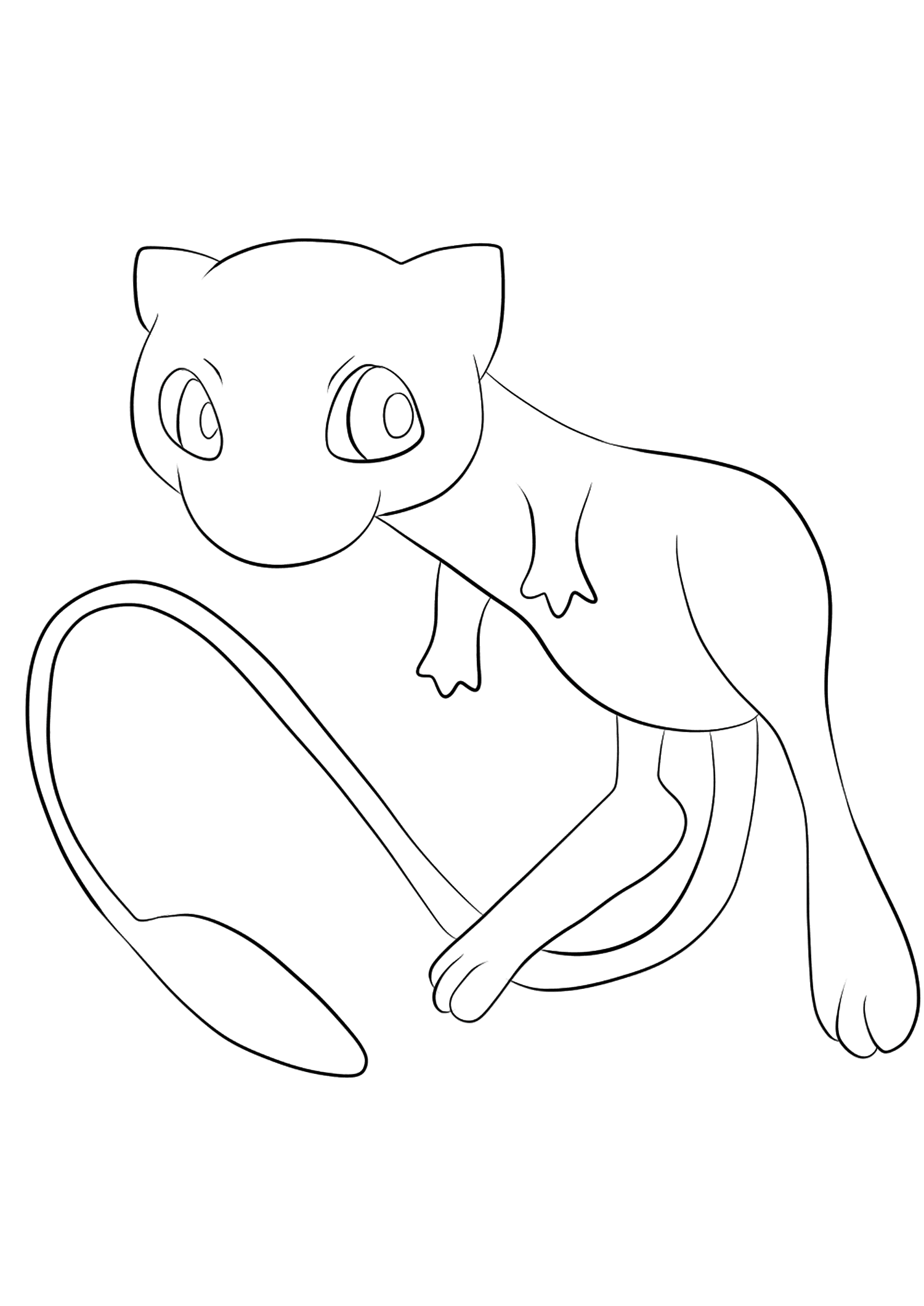 Mew No 151 Pokemon Generation Ii All Pokemon Coloring Pages Kids Coloring Pages