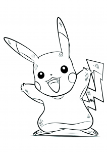 Pokemon Free printable Coloring