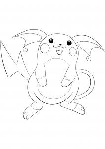 <b>Raichu</b> (No.26) : Pokemon (Generation I)