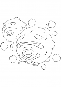 <b>Weezing</b> (No.110) : Pokemon (Generation I)
