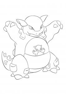 <b>Kangaskhan</b> (No.115) : Pokemon (Generation I)