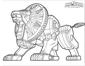 Coloring page power rangers to download for free