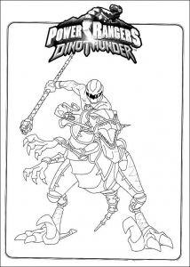 Coloring page power rangers to color for kids