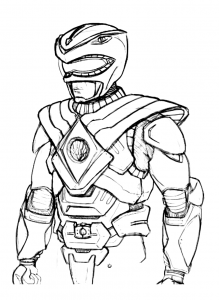 Coloring page power rangers to print