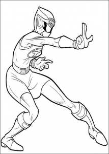 Coloring page power rangers for kids
