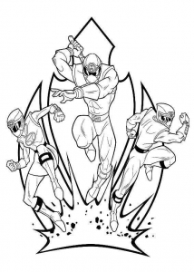 power rangers  free printable coloring pages for kids