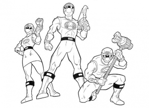 Coloring page power rangers to download