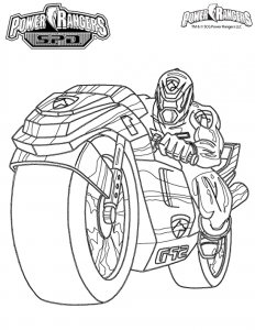 Coloring page power rangers to color for children