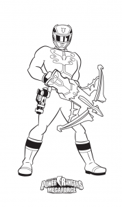 Coloring page power rangers for children
