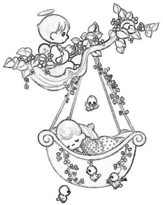 Simple Precious Time coloring page