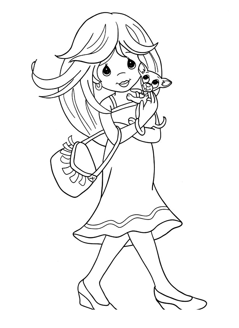 Simple free Precious Time coloring page to print and color