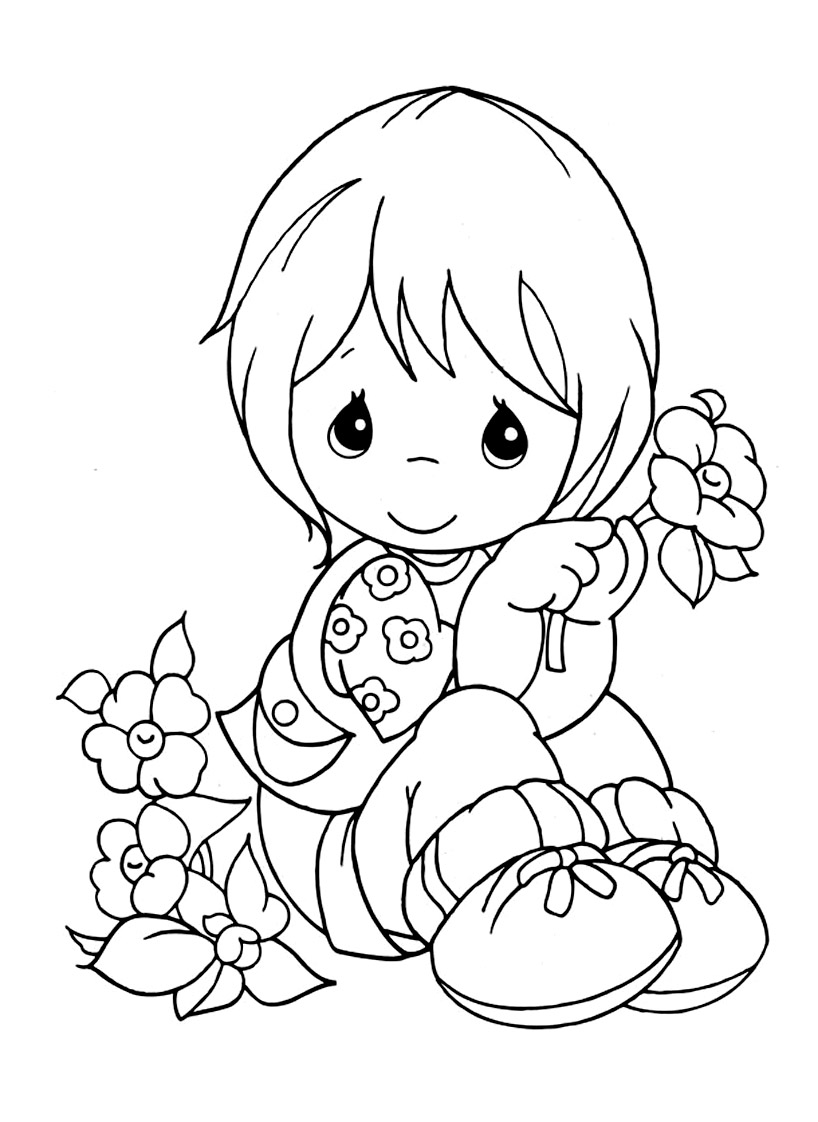 Free Precious Time coloring page to print and color
