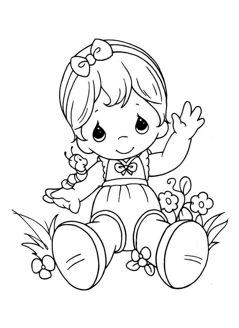 Free Precious Time coloring page to download