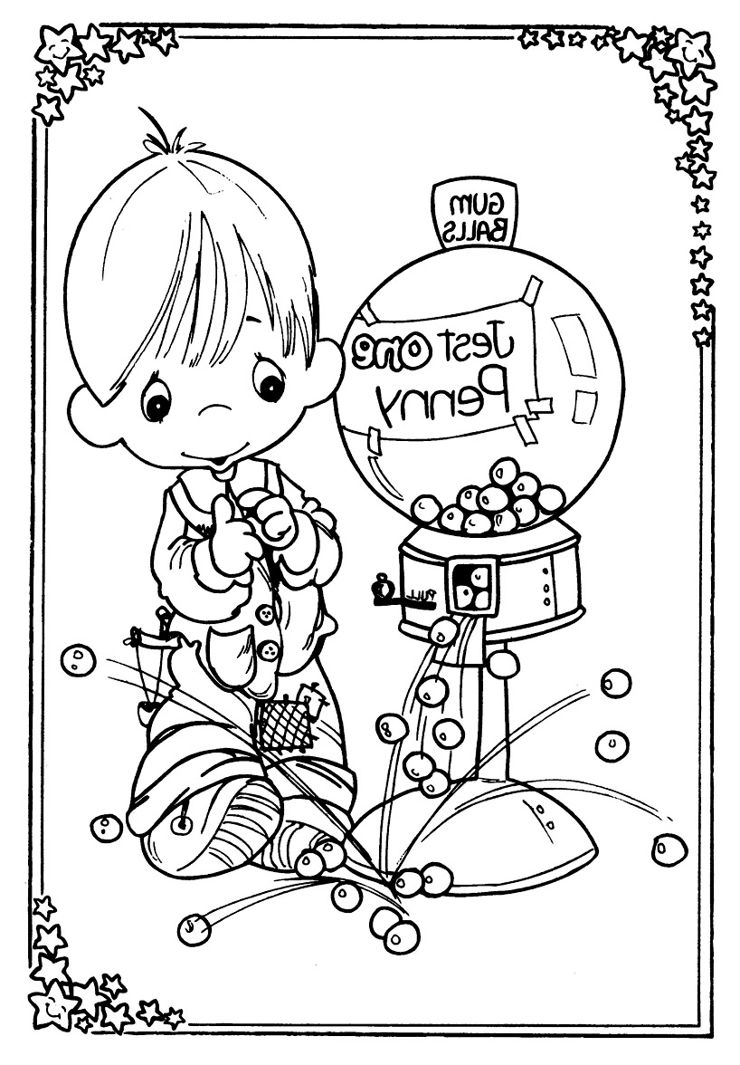 Funny free Precious Time coloring page to print and color