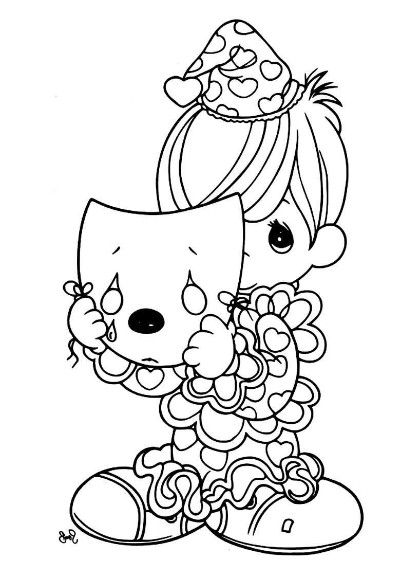 Simple Precious Time coloring page to print and color for free