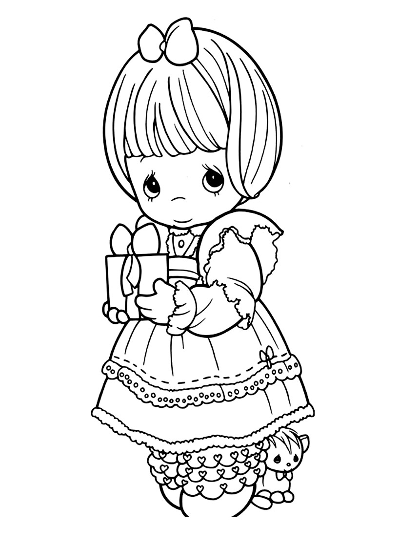 Simple Precious Time coloring page to download for free