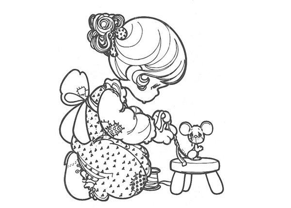 Printable Precious Time coloring page to print and color for free