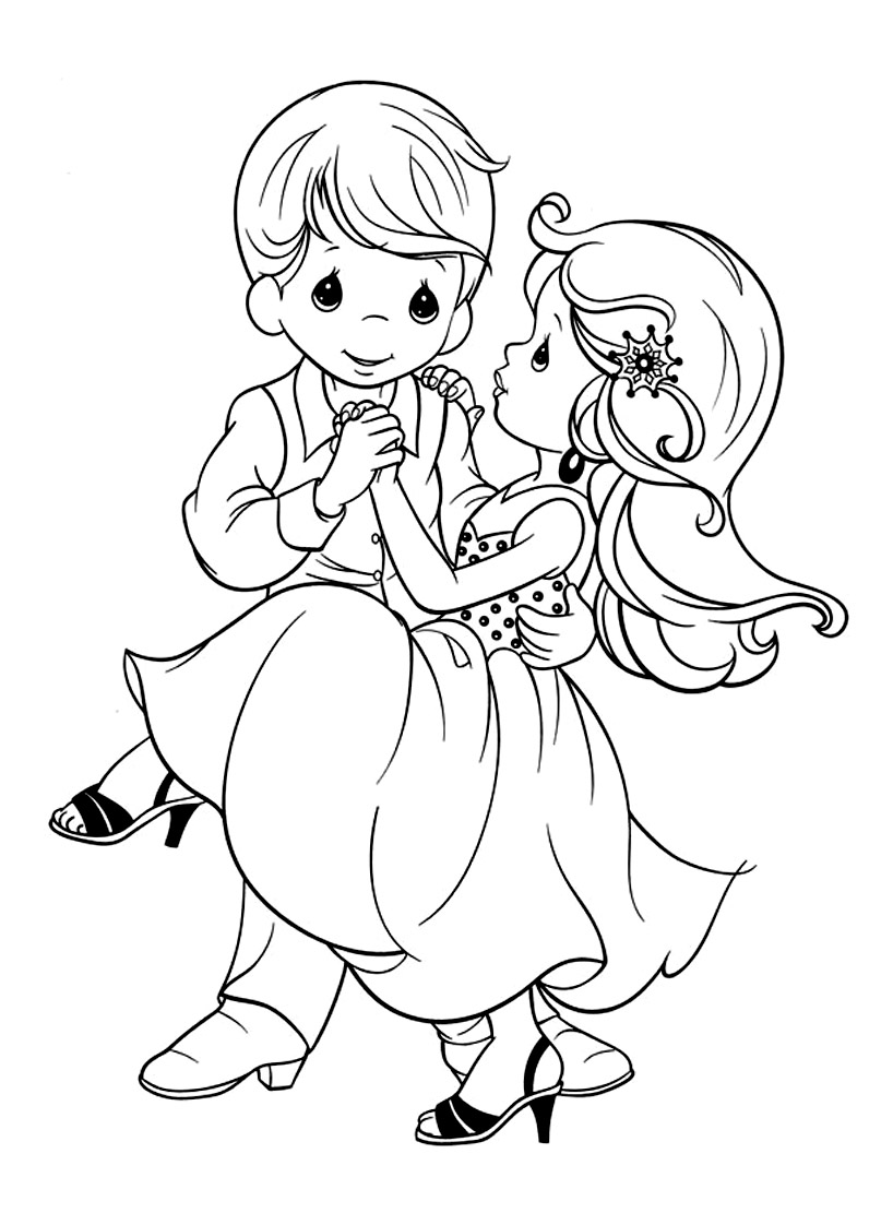 Cute free Precious Time coloring page to download