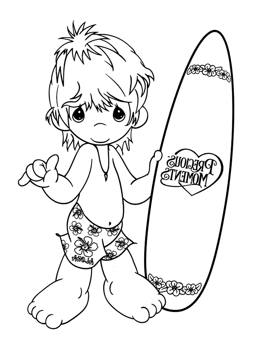 Easy free Precious Time coloring page to download