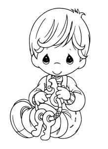 Coloring page precious time free to color for kids