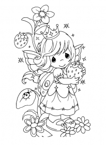 Coloring page precious time for children