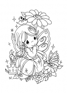 Coloring page precious time to download for free