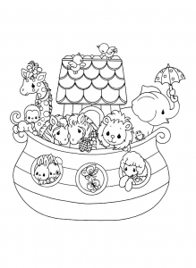Coloring page precious time free to color for children