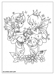 Coloring page precious time to print